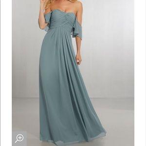 Morilee bridesmaid dress in grey